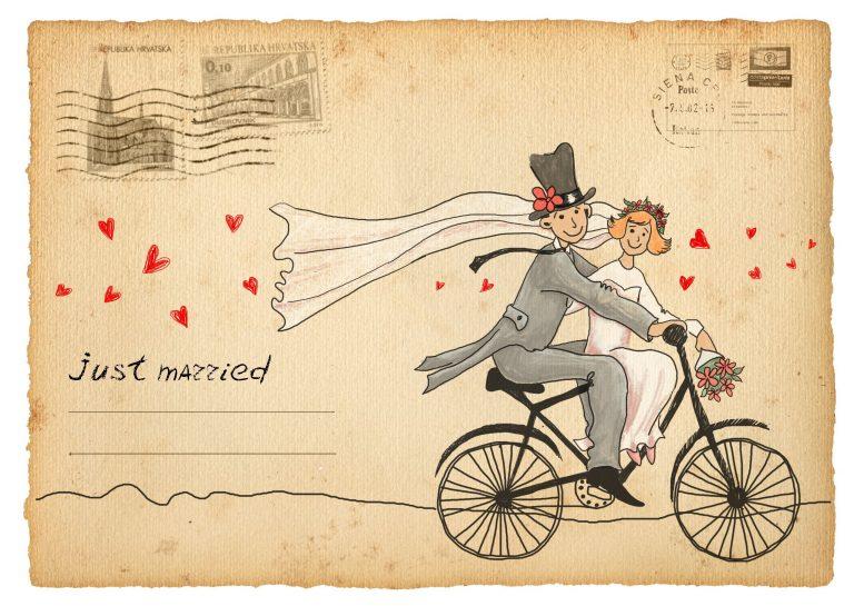 Винтажные открытки для свадьбы 728