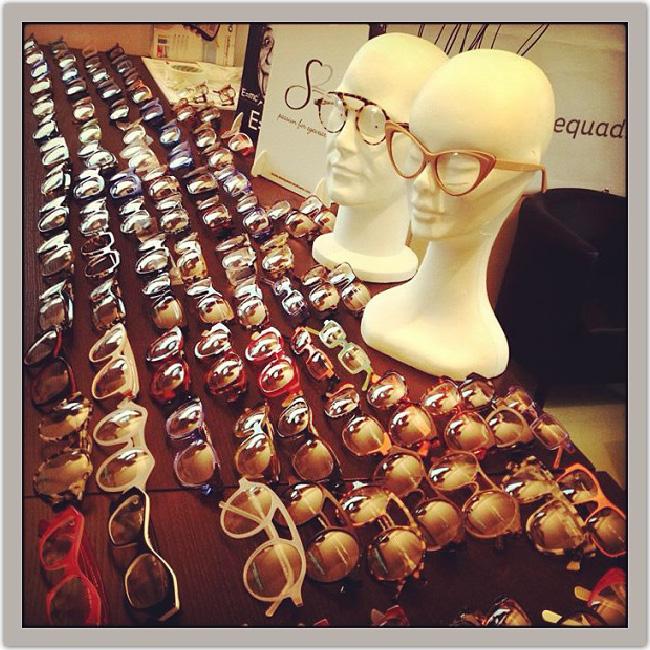 étalage de lunettes