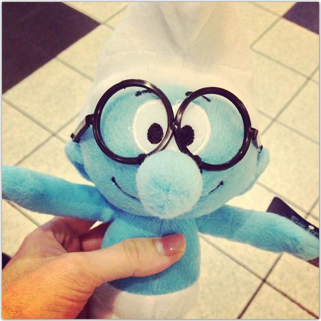 Schtroumf à lunettes