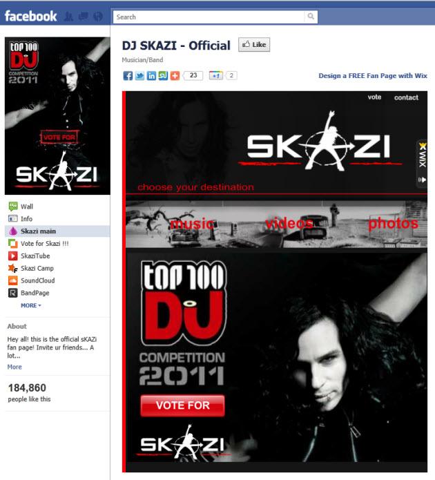 Page Facebook de DJSkazi