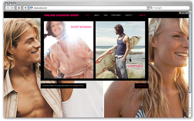 Modèle pour e-boutique de mode