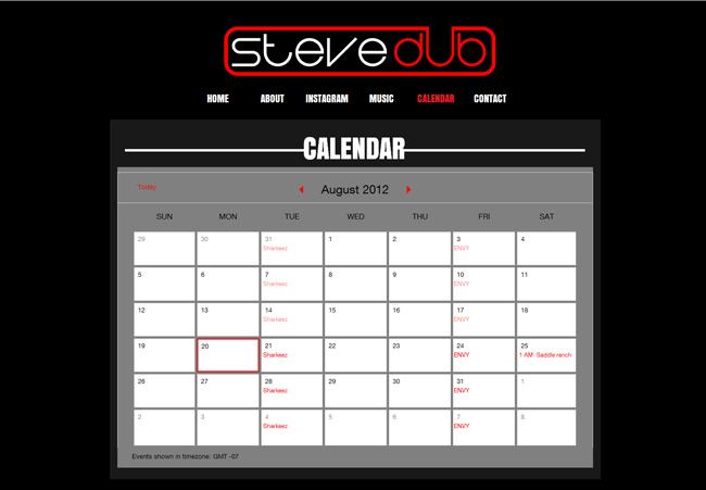 Steve Dub –utilise l'Agenda Google