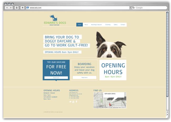 Modèle Dog Day Care