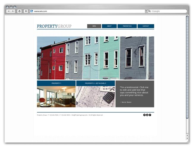Modèle Property Group
