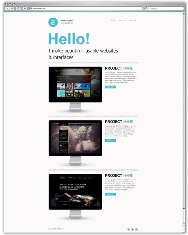 Modèle Web Portfolio