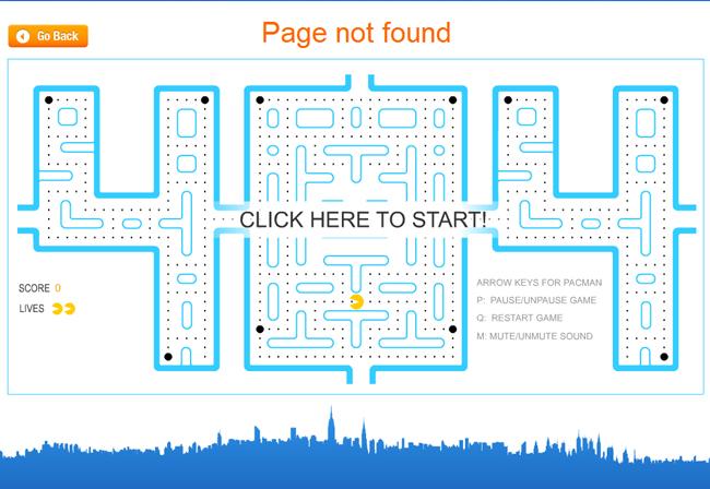 les pages d'erreur 404 les plus réussies