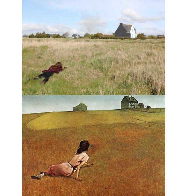 """Le Monde de Christina"" - Andrew Wyeth, Reprise Par Daryl Seitchik"
