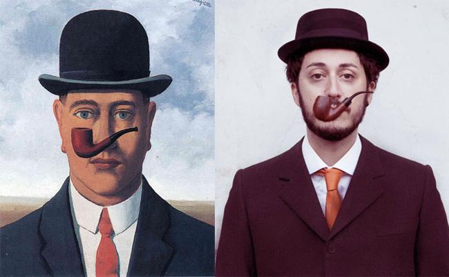 """""""La bonne foi"""" - Magritte, Reprise par Noemi Mazzucchelli"""