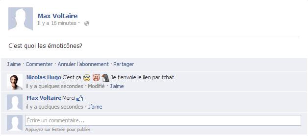 émoticônes Facebook