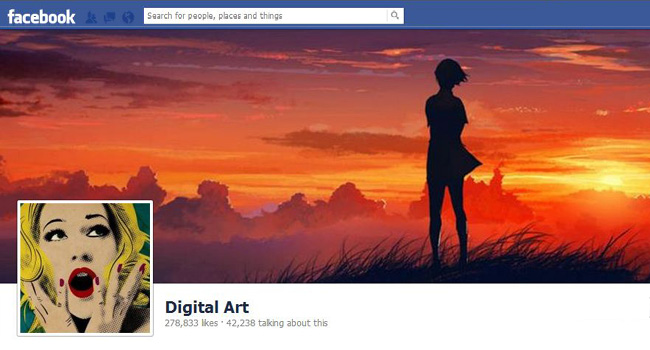 Digital Art Facebook page