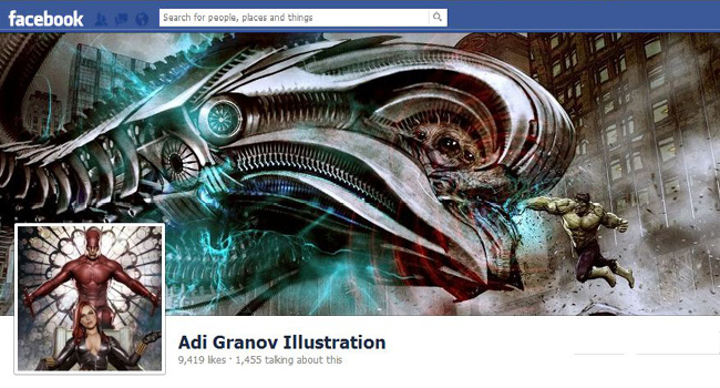 Adi Granov Illustrations Facebook Page