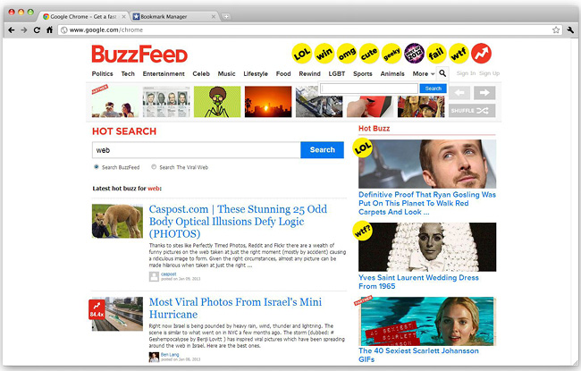 Découvrir les tendances du web