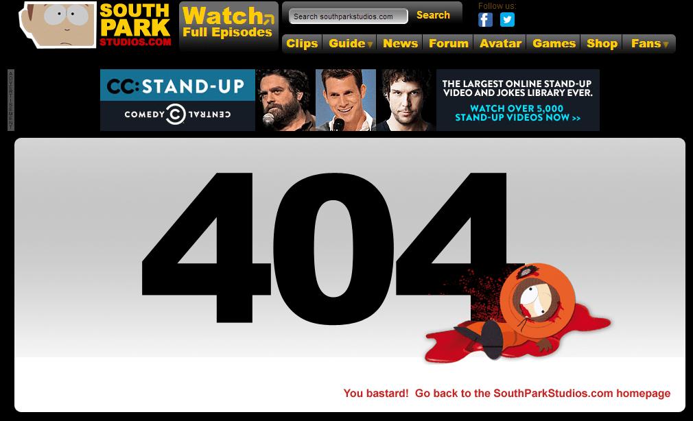 les pages 404 les plus originales