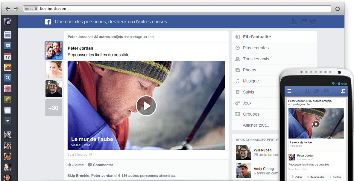 Découvrez Le Nouveau Fil d'Actualité de Facebook