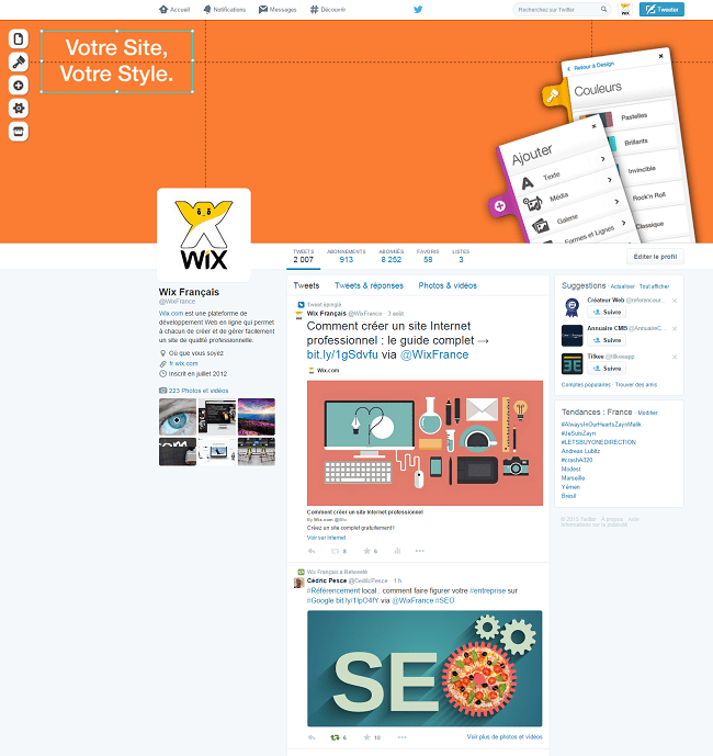Wix Français   WixFrance    Twitter