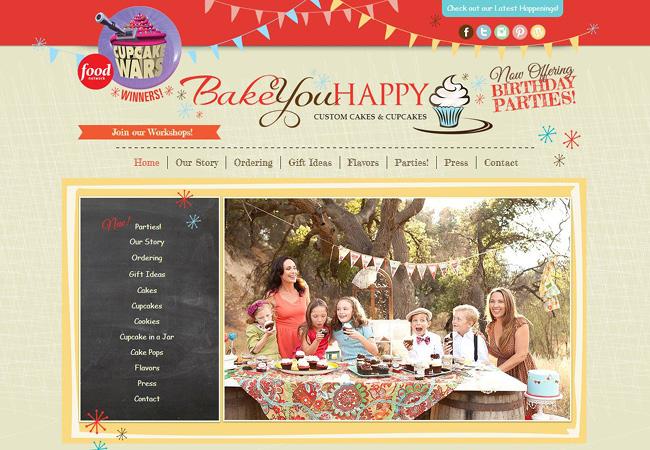le site de Bake You Happy