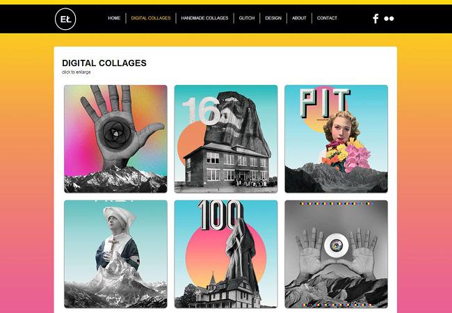 des portfolios d'art créés avec WIx