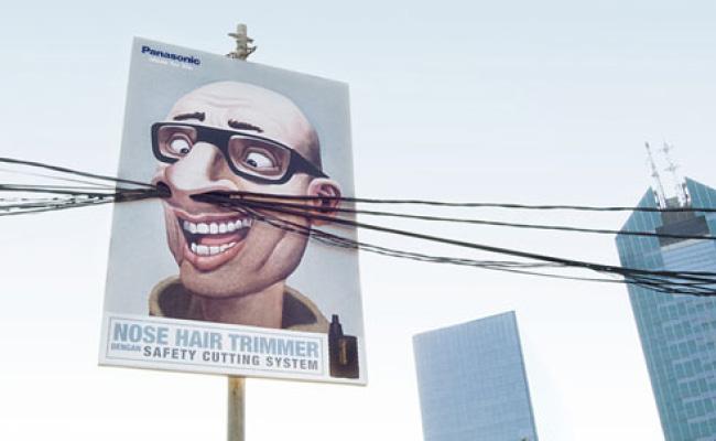 Pub pour l'épilateur facial Panasonic