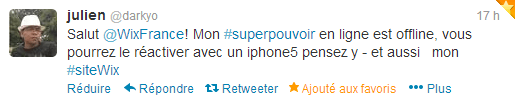 Concours Wix « Décrivez nous votre super-pouvoir en ligne et gagnez un iPhone5 »