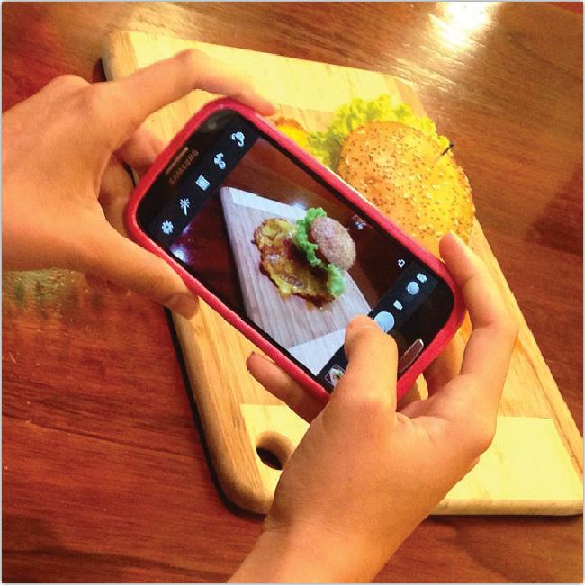 Instagram passe à table