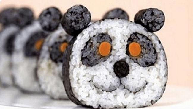 Sushi en forme de panda