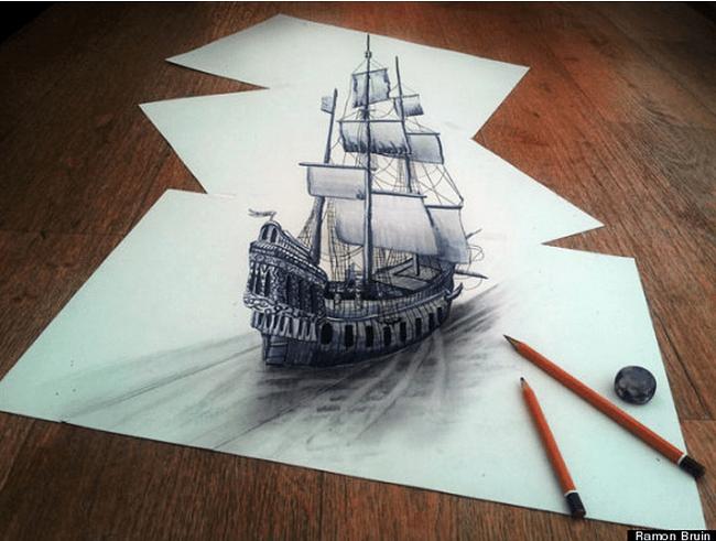 Dessin de bateau en 3D