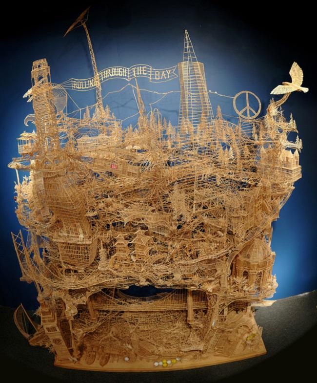 Sculpture de San Francisco composée de 100,000 cure-dents