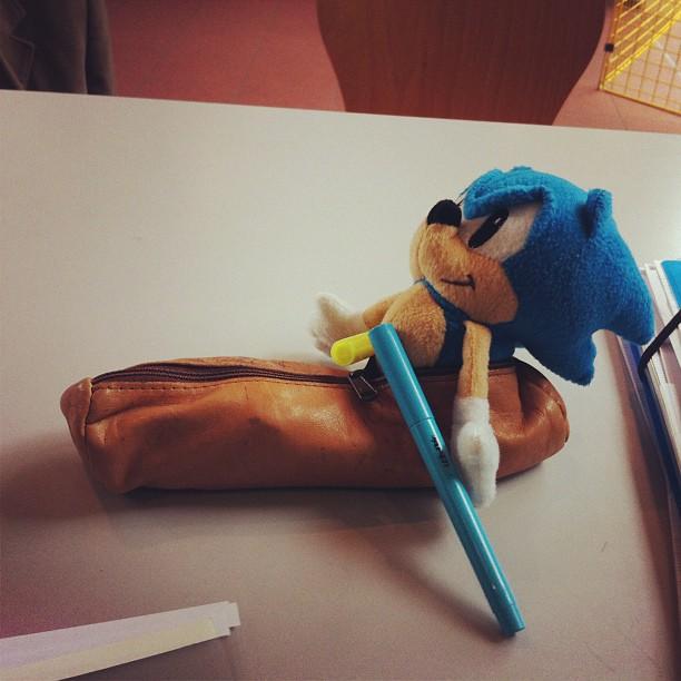 Sonic dans une trousse