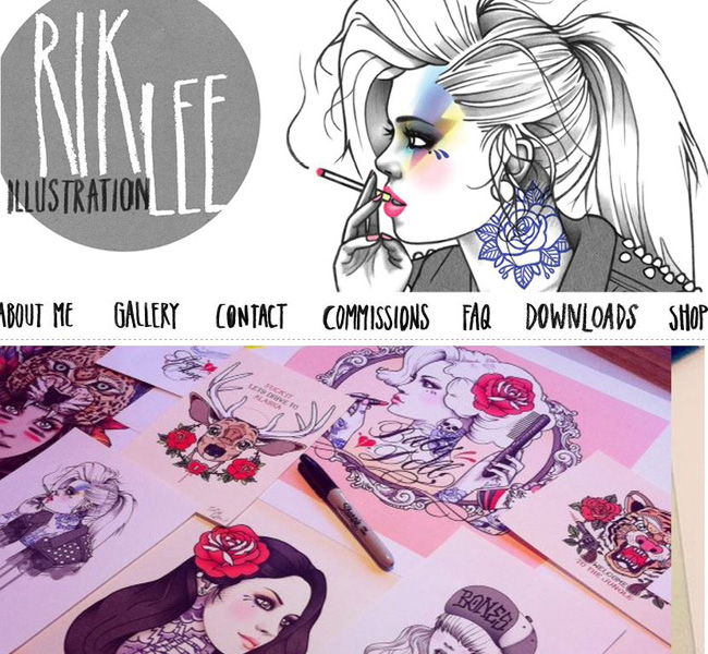 Site de Rik Lee: Illustrateur