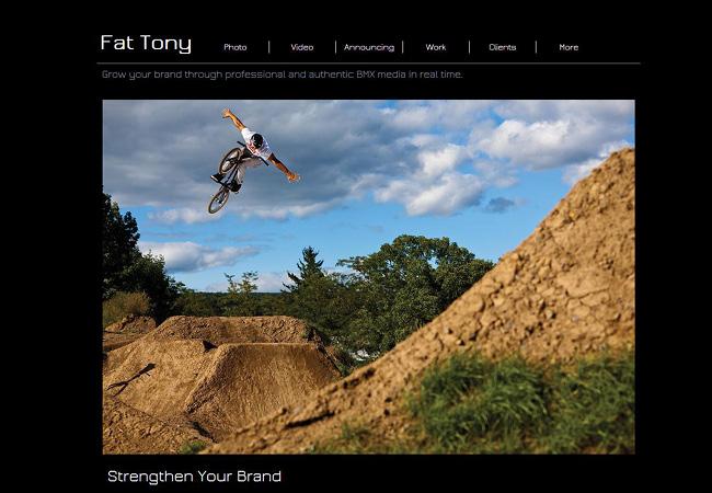 Site WIx de Fat Tony : photographe professionnel