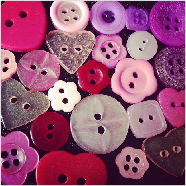Boutons aux teintes roses