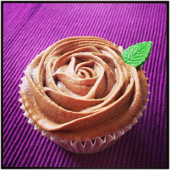 Cupcake en forme de rose