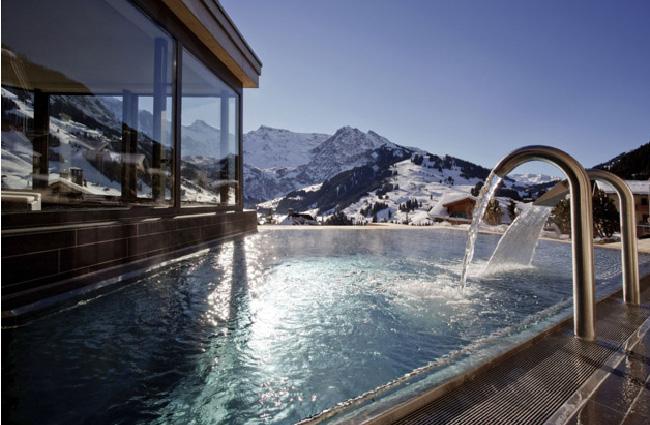 Piscine du Cambrian hotel, Adelboden, Suisse