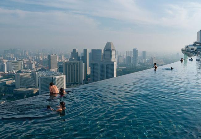 Piscine Infinity Pool, Singapour