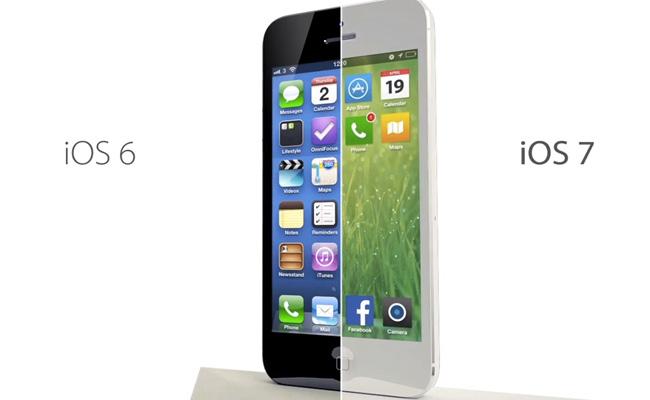 Comparaison iOS6 et iOS7