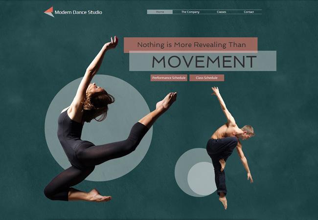 template Wix école de danse