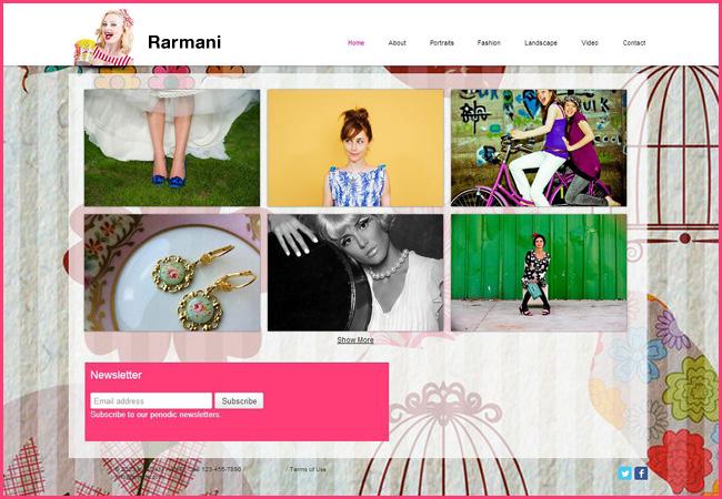 Exemple de site présentant un service de Newsletters