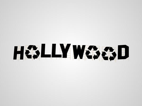 Parodie du panneau Hollywood