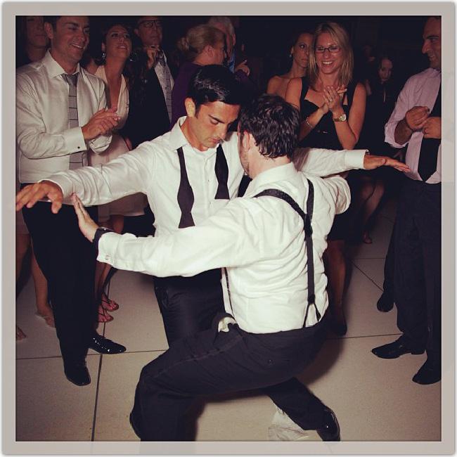 danseurs à un mariage