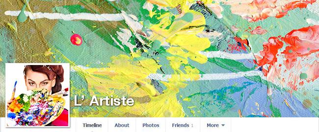 Images d'une femme avec une palette d'artiste à la main