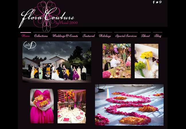 Site Wix: Flora Couture