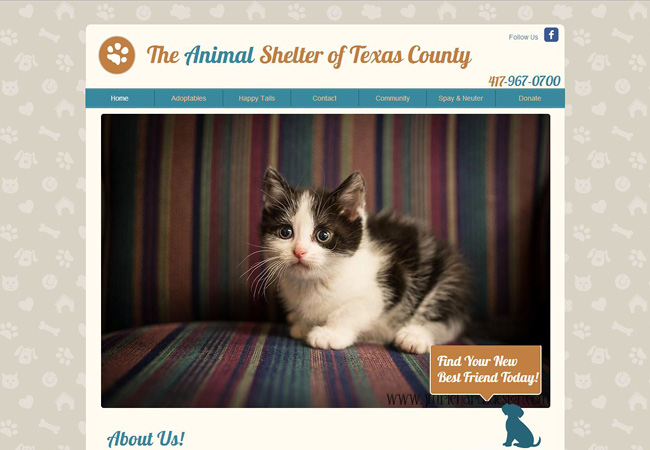 Site: The Animal Shelter of Texas County