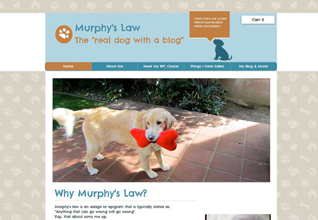 Site: The Real Dog with a Blog