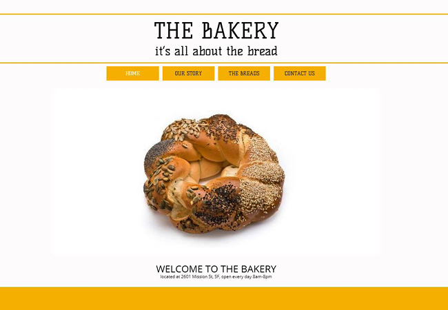 Template d'origine: The Bakery