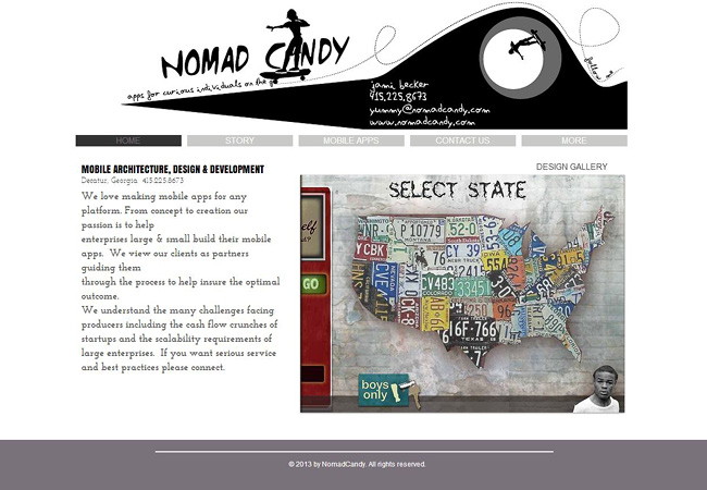 Site Wix: Nomad Candy