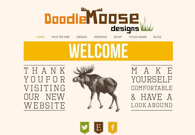 Site Wix de Doodle Moose Designs