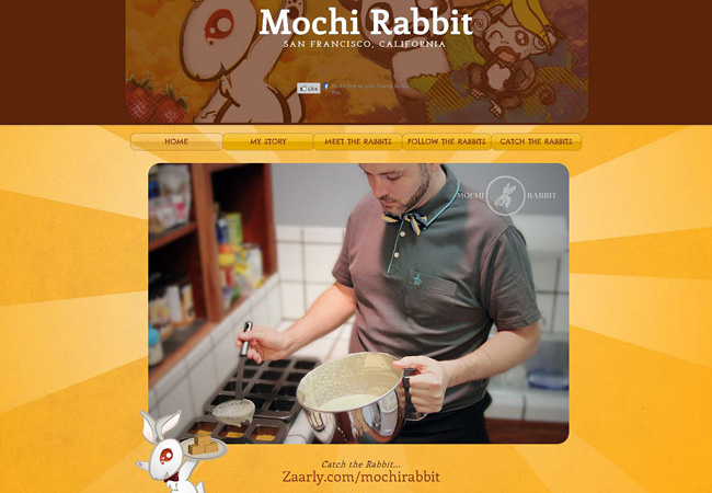 Site Wix de Mochi Rabbit