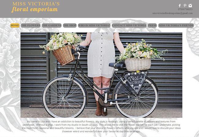 Site Wix : Miss Victoria's Floral Emporium