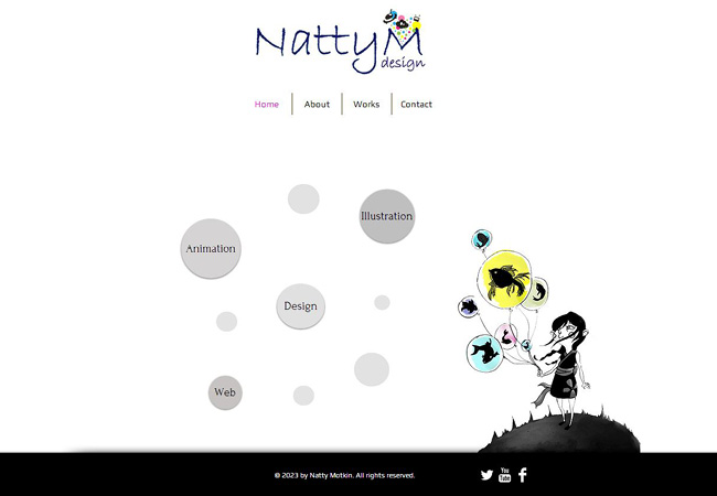 Site Wix de   Natty Motkin