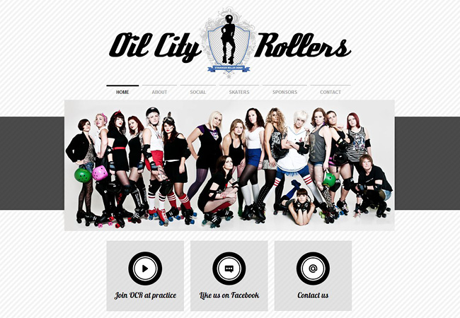 Site Wix : Oil City Rollers